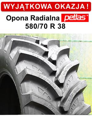 Opona Radialna niskoprofilowa Petlas 580/70R38