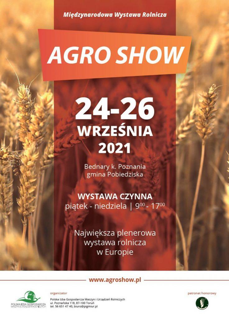 Agroshow 2021 Bednary Plakat